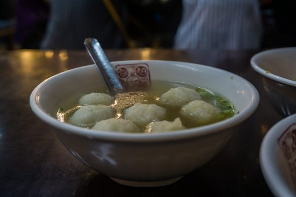 Famous fish ball soup from a stall in Jiufen