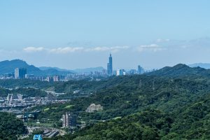 Photo of Taipei 101 from Hongdan Mountain