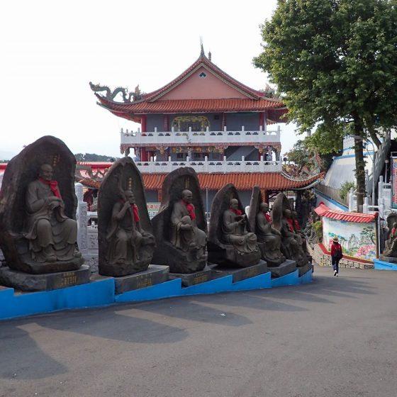 Stone Monks of Tianxian Palace in Keelung, Taiwan
