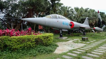 Jetfighter at Ershawan Fort in Keelung, Taiwan