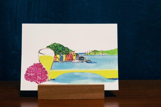 去基隆小旅行手繪明信片漫遊離島