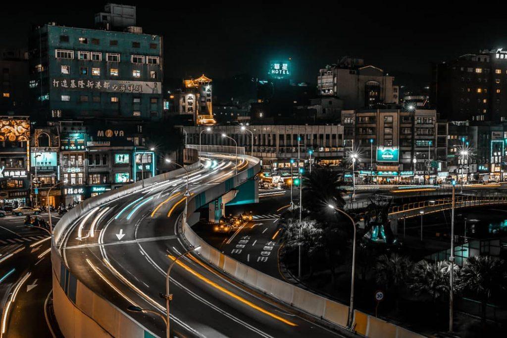基隆東岸廣場夜景